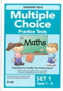 Multiple Choice Practice Transfer Test in Maths Set 1 Tests 1-4 by Pat Quinn